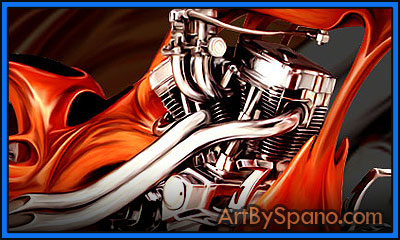 Motorcycle - Biker Art by Spano